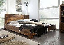 Massivmöbel Palisander Holz massiv life honey Bett 140x200 Massivholz Sheesham lackiert Möbel Metro Life #135