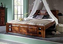 MASSIVMOEBEL24.DE Bett im Kolonialstil aus