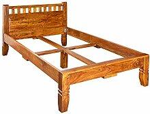 MASSIVMOEBEL24.DE Kolonialstil Bett 120x200 Honig