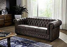 MASSIVMOEBEL24.DE Sofa Oxford Antik-Look Vintage