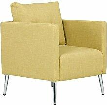 Massivum 10023416 Sessel Melrose senf Chromfüße, Stoff, gelb, 73 x 70 x 87 cm