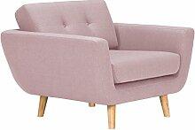 Massivum 10024840 Kingsley Sessel, Stoff, rosa, 96 x 100 x 78 cm