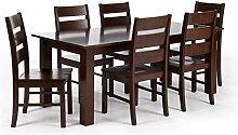 Massivum Bologna Tischgruppe, Holz, braun, 90 x 150 x 75 cm