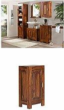 Massivum Cubus Badmöbel Set, Holz, braun, 35 x 45 x 185 cm + Unterschrank Cubus 42x80x30 cm Palisander braun lackier