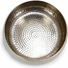 massivum Deko Schale, Metall, Silber, 35 x 35 x 15