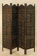 massivum Dekoration 200x180x2 cm Mango braun lackier
