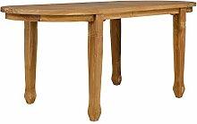 massivum Esstisch Mawenzi 180x80 oval Teakholz massiv Esszimmer Tische Holztisch