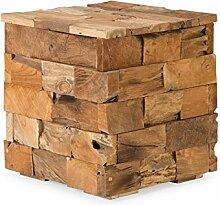 massivum Hocker Parbat 40x45x40 cm Teak braun