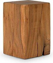 massivum Hocker Santiago 30x45x30 cm Akazie natur lackier