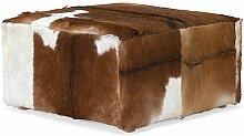 massivum Hocker Siberian 75x40x75 cm Fell braun