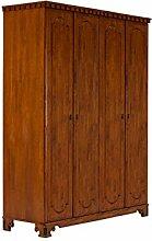 massivum Kleiderschrank Byzanz 163x220x60 cm Rubberwood braun gebeizt und lackier