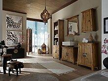 Massivum Rangun Badmöbel 5 teilig, Holz, braun, 32 x 55 x 185 cm