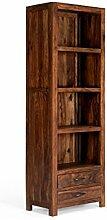 massivum Regal Palison 67x180x42 cm Palisander braun lackier