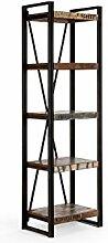 massivum Regal Quebec 60x200x40 cm Hartholz bunt lackier