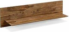 massivum Regal Torino 130x35x28 cm Palisander braun gewachs