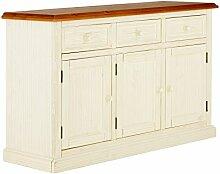massivum Sideboard Santa Cruz 135x85x45 cm Pinie weiß lackier