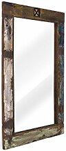massivum Spiegel Cruzar 120x80x3 cm Recyceltes Holz bunt gewachs