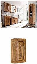 Massivum Stark Badmöbel Set, Holz, braun, 35 x 45 x 185 cm + Hängeschrank Stark 42x70x20 cm Palisander braun lackier