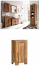 Massivum Stark Badmöbel Set, Holz, braun, 35 x 45 x 185 cm + Unterschrank Stark 42x80x30 cm Palisander braun lackier