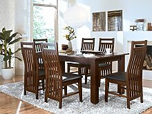 Massivum Suma Esstisch 180x90 + 6 Stühle, Holz,