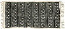 massivum Teppich 180x1x80 cm Flachgewebe-Stoff grau