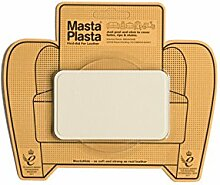 MastaPlasta Self-Adhesive Leather Repair Patch. IVORY CROWN 10cmx6cm. Mends holes; covers stains. Save your sofa, car seats, handbags etc. More colours/sizes available
