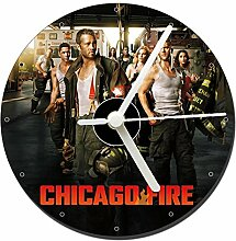 MasTazas Chicago Fire Tischuhren CD Clock 12cm