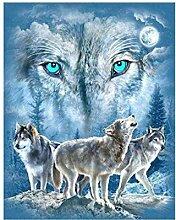Masterein Kristall Wolf Harz Diamant-Malerei 5D DIY Stickerei Kreuz Stich Bild Wohnkultur Handwerk Wolf 1