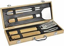 Mastrad BBQ Set Grillbesteck, 4-tlg. mit Koffer,