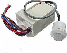 MASUNN 220V Mini Pir Bewegungsmelder Detektor Für
