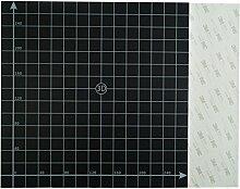 MASUNN 300 * 300Mm Black Square Scrub Surface Hot Bett Platform Aufkleber Mit 1:1 Koordinate Für 3D-Drucker