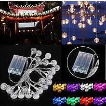 MASUNN 3M 20LED Batterie Blase Ball Fairy String Lichter Garten Party Weihnachten Dekor-ro