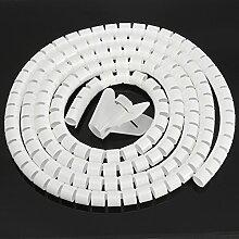 MASUNN 3Mx25mm Spiral Wrap Kabel Tidy Pc Tv Wire Binding Organisieren Tool Office Home -Beige
