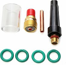 MASUNN 8St Schweißbrenner Gas Lens Glass Cup Kit Für Tig Wp-9/20/25 Series 1/81Cm
