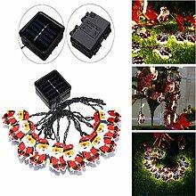 MASUNN Solar/Batterie powered 4m 10LEDs warm White Santa Claus geformt Fairy String Light für Weihnachten-01