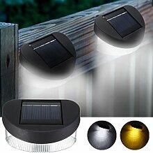 MASUNN Solar Power 8 LED Wandleuchte Outdoor