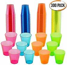 matana 300er Pack Neon Party Plastik