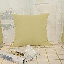 Matcha grün Polyester Ramie-Kissen/ einfache Kissen/Sofa-Bett Umarmung Kissenbezug-B 65x65cm(26x26inch)