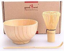Matcha Set Boku - Matchaschale aus Holz mit