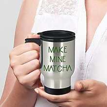 Matcha Tea Travel Becher mit Henkel