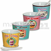 matches21 Eisbecher Eis Becher 4er Set Ice Cream
