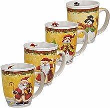 matches21 Tassen Becher Weihnachtstassen Keramik
