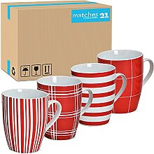 matches21 Tassen Kaffeebecher Kaffeetassen mit