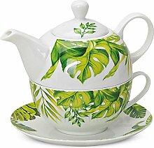 matches21 Tea For One Teekanne Set Monstera