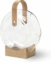 Mater - Handle Vase, Eiche / klar