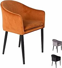MATHI DESIGN Sessel Tisch-Cosy aus Samt, Orange, 40 cm
