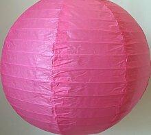 Matissa Lampenschirm aus Papier, 35cm, 3Stück, Hochzeit, Party-Dekoration, Pink