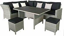 Matodi Dining Poly Rattan Lounge inklusive Kissen Gartensitzgruppe