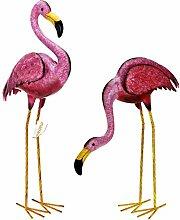 matrasa Flamingos aus Metall - Flamingopaar -