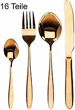 matrasa Tafelbesteck Gold/Messing - Besteckset -